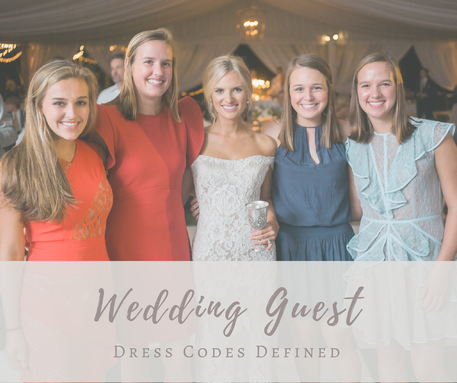 f40caf725ed Wedding Guest Dress Codes Defined – Southern Posies